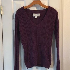 American Eagle purple sweater